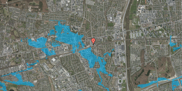 Oversvømmelsesrisiko fra vandløb på Banegårdsvej 8, 2600 Glostrup