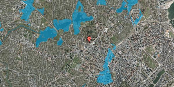 Oversvømmelsesrisiko fra vandløb på Dortheavej 42, 1. 3, 2400 København NV