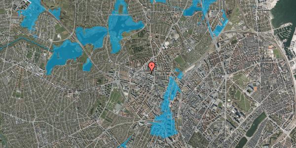 Oversvømmelsesrisiko fra vandløb på Dortheavej 2R, 2400 København NV