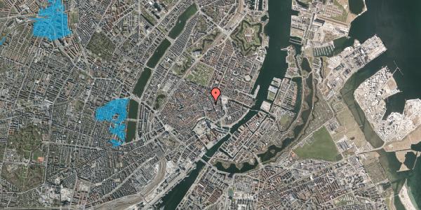 Oversvømmelsesrisiko fra vandløb på Østergade 36A, 2. , 1100 København K