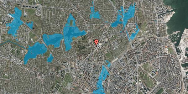 Oversvømmelsesrisiko fra vandløb på Tagensvej 241C, 2400 København NV