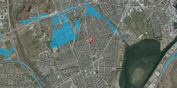 Oversvømmelsesrisiko fra vandløb på Antvorskovvej 1, 2650 Hvidovre