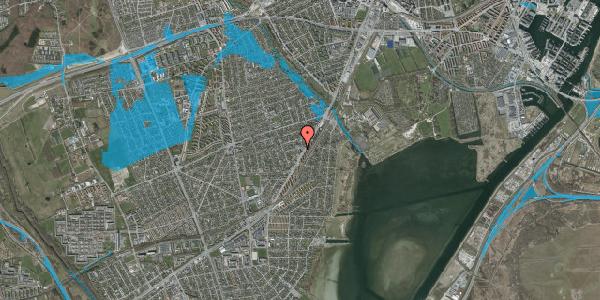 Oversvømmelsesrisiko fra vandløb på Gammel Køge Landevej 260D, 1. mf, 2650 Hvidovre