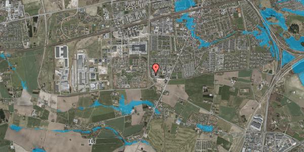 Oversvømmelsesrisiko fra vandløb på Vandmestervej 32B, 2630 Taastrup