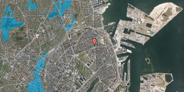 Oversvømmelsesrisiko fra vandløb på Tåsingegade 11, 2100 København Ø