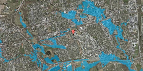 Oversvømmelsesrisiko fra vandløb på Grønkløvervænget 8, 2625 Vallensbæk