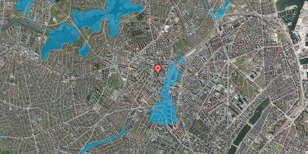 Oversvømmelsesrisiko fra vandløb på Brofogedvej 12B, 2400 København NV