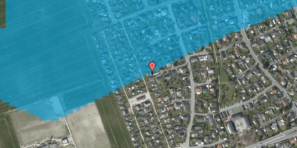 Oversvømmelsesrisiko fra vandløb på Hf. Dahlia 34, 2650 Hvidovre