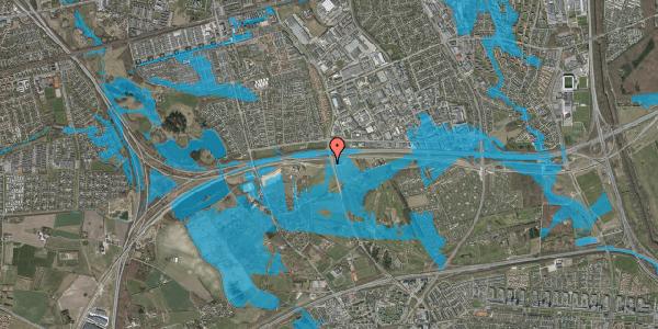 Oversvømmelsesrisiko fra vandløb på Brøndbyvej 180, 2625 Vallensbæk