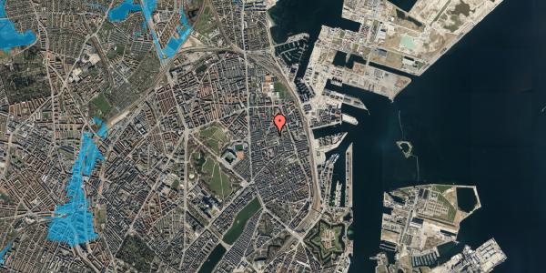 Oversvømmelsesrisiko fra vandløb på Viborggade 70D, 2. , 2100 København Ø