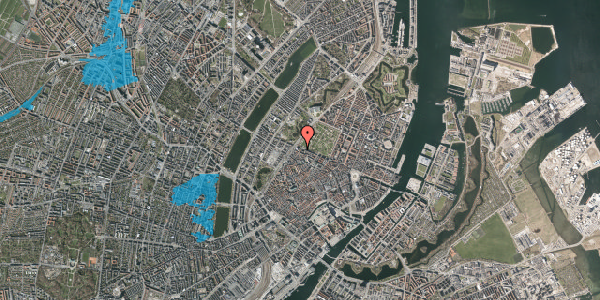 Oversvømmelsesrisiko fra vandløb på Rosenborggade 17, 1. , 1130 København K