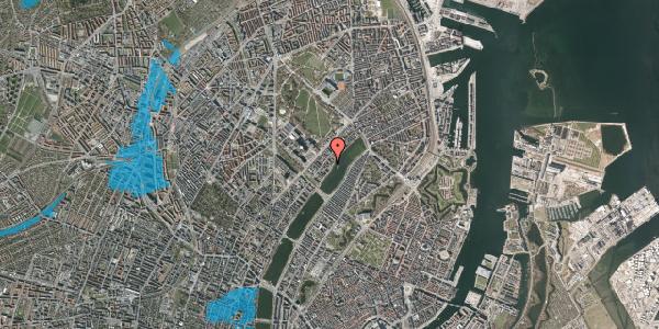 Oversvømmelsesrisiko fra vandløb på Helgesensgade 3A, st. , 2100 København Ø