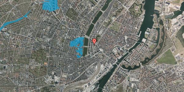 Oversvømmelsesrisiko fra vandløb på Vester Farimagsgade 27, 1. th, 1606 København V