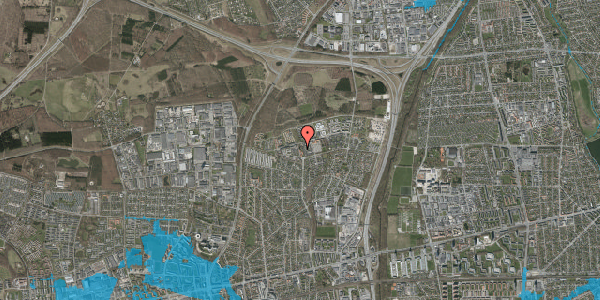 Oversvømmelsesrisiko fra vandløb på Byskoven 50, 2600 Glostrup