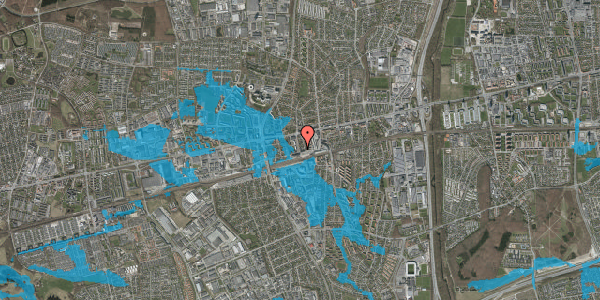 Oversvømmelsesrisiko fra vandløb på Nyvej 19, st. tv, 2600 Glostrup