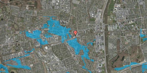Oversvømmelsesrisiko fra vandløb på Sydvestvej 6, 2. tv, 2600 Glostrup