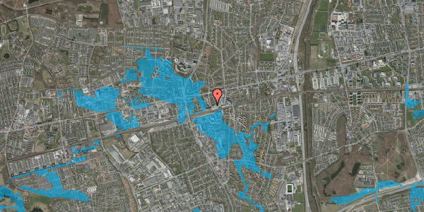 Oversvømmelsesrisiko fra vandløb på Sydvestvej 8, st. tv, 2600 Glostrup