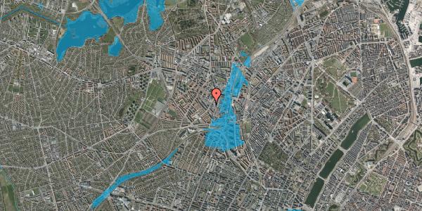 Oversvømmelsesrisiko fra vandløb på Vibevej 27, 1. th, 2400 København NV