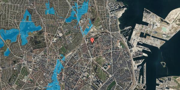 Oversvømmelsesrisiko fra vandløb på Venøgade 4, 2. 3, 2100 København Ø