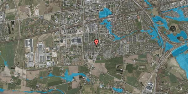 Oversvømmelsesrisiko fra vandløb på Sankt Ibs Alle 126, 2630 Taastrup