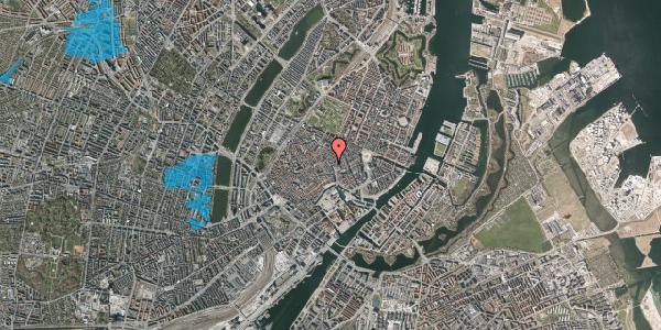 Oversvømmelsesrisiko fra vandløb på Købmagergade 11A, 2. , 1150 København K