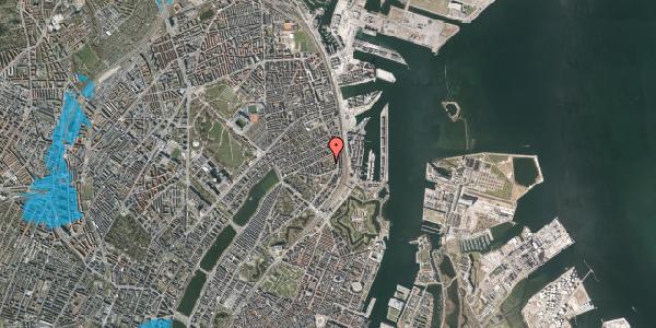 Oversvømmelsesrisiko fra vandløb på Arendalsgade 6F, 2100 København Ø