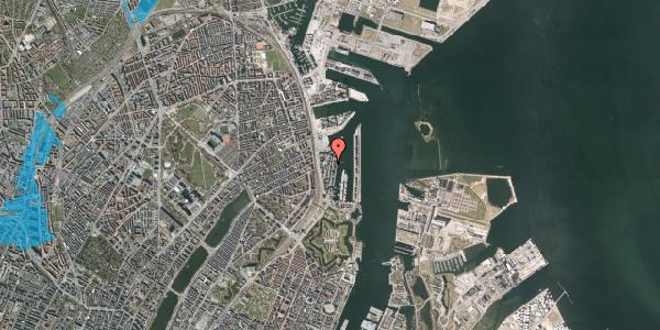 Oversvømmelsesrisiko fra vandløb på Amerika Plads 24B, 2. 1, 2100 København Ø