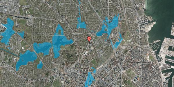 Oversvømmelsesrisiko fra vandløb på Magdelonevej 20A, 2400 København NV
