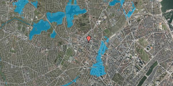 Oversvømmelsesrisiko fra vandløb på Rentemestervej 37A, st. 1, 2400 København NV