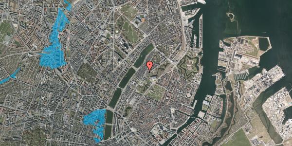 Oversvømmelsesrisiko fra vandløb på Øster Farimagsgade 10D, st. , 2100 København Ø