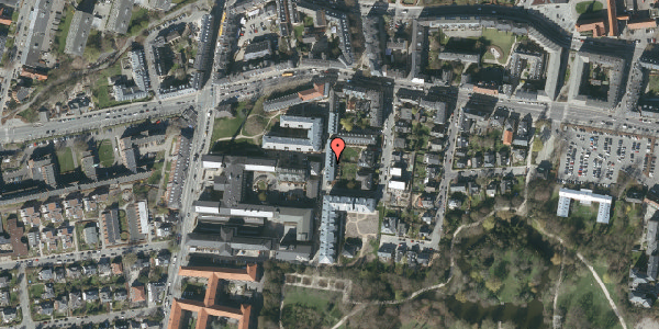 Oversvømmelsesrisiko fra vandløb på Porcelænshaven 3P, 2000 Frederiksberg