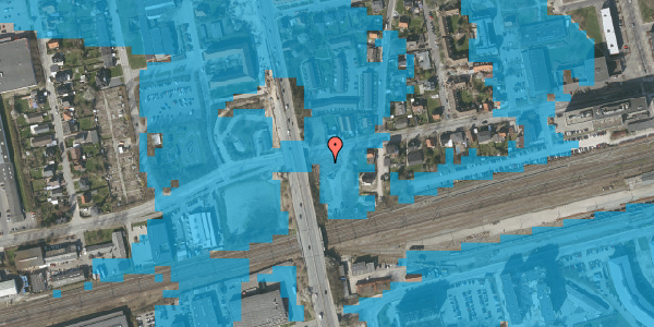 Oversvømmelsesrisiko fra vandløb på Sydvestvej 49A, st. 2, 2600 Glostrup
