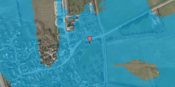 Oversvømmelsesrisiko fra vandløb på Brøndbyvej 195, 2625 Vallensbæk