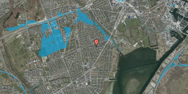 Oversvømmelsesrisiko fra vandløb på Bjergagervej 43, 2650 Hvidovre