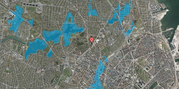 Oversvømmelsesrisiko fra vandløb på Bispeparken 17A, 2400 København NV