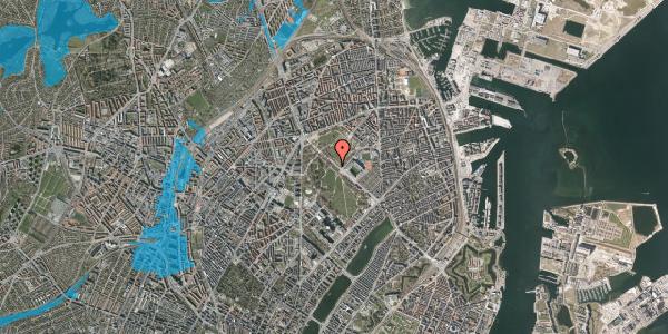 Oversvømmelsesrisiko fra vandløb på Øster Allé 41, 2100 København Ø