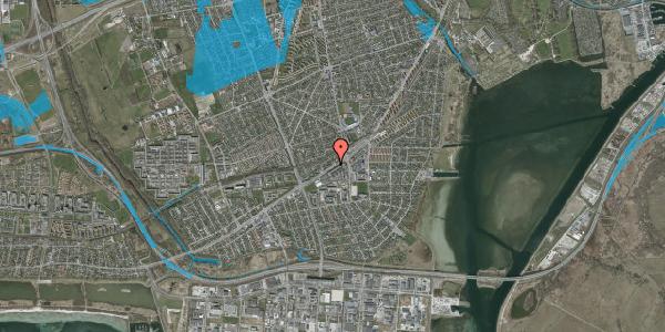 Oversvømmelsesrisiko fra vandløb på Gammel Køge Landevej 376E, 2650 Hvidovre