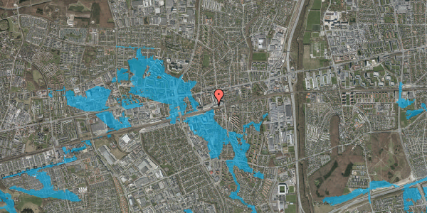 Oversvømmelsesrisiko fra vandløb på Banegårdsvej 20, 2600 Glostrup