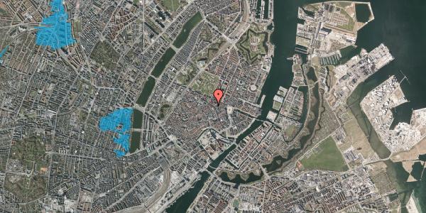 Oversvømmelsesrisiko fra vandløb på Sværtegade 11, 1. , 1118 København K