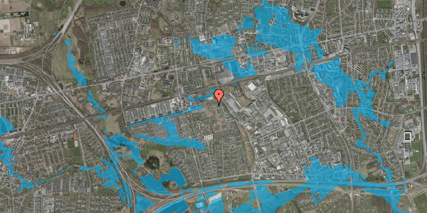 Oversvømmelsesrisiko fra vandløb på Kløvervænget 72, st. 11, 2625 Vallensbæk