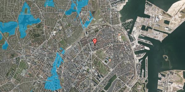Oversvømmelsesrisiko fra vandløb på Lyngbyvej 28, 1. th, 2100 København Ø