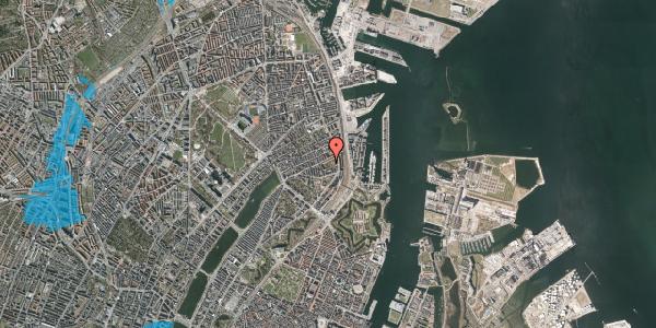 Oversvømmelsesrisiko fra vandløb på Arendalsgade 6A, 2100 København Ø