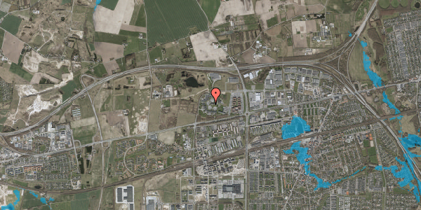 Oversvømmelsesrisiko fra vandløb på Gregersensvej 1D, 2630 Taastrup