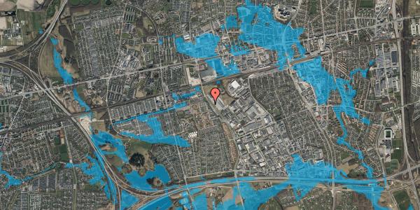 Oversvømmelsesrisiko fra vandløb på Firkløverparken 80, 2625 Vallensbæk