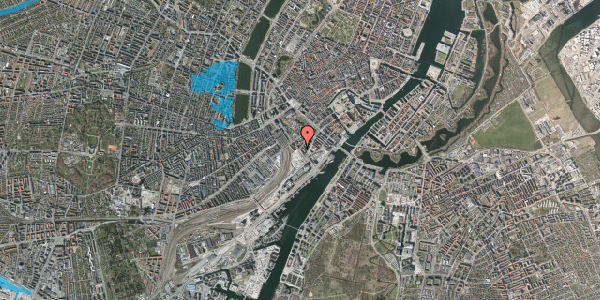 Oversvømmelsesrisiko fra vandløb på Stoltenbergsgade 11, 1576 København V