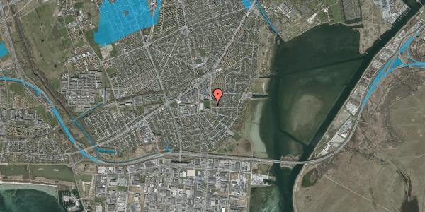 Oversvømmelsesrisiko fra vandløb på Strandmarksvej 47A, 2650 Hvidovre