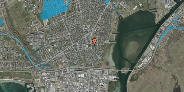 Oversvømmelsesrisiko fra vandløb på Strandmarksvej 47B, 2650 Hvidovre