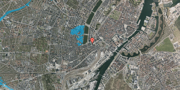 Oversvømmelsesrisiko fra vandløb på Vesterbrogade 14A, 3. , 1620 København V