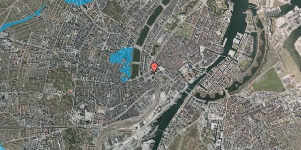 Oversvømmelsesrisiko fra vandløb på Hammerichsgade 1, 17. , 1611 København V