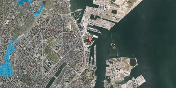 Oversvømmelsesrisiko fra vandløb på Marmorvej 25, st. th, 2100 København Ø